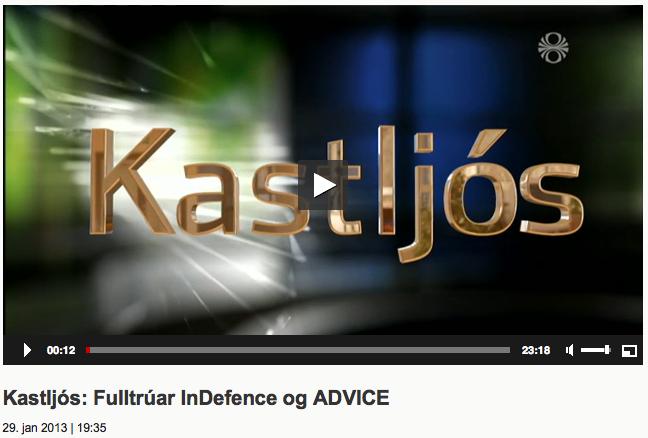 Viðtal í Kastljósi þann 29. janúar 2013.